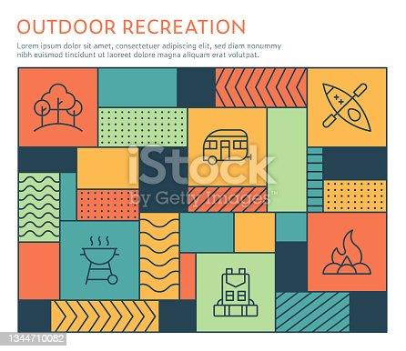 istock Bauhaus Style Outdoor Recreation Infographic Template 1344710082