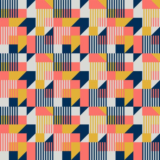bauhaus-stil geometrischen streifenmuster - bauhaus stock-grafiken, -clipart, -cartoons und -symbole