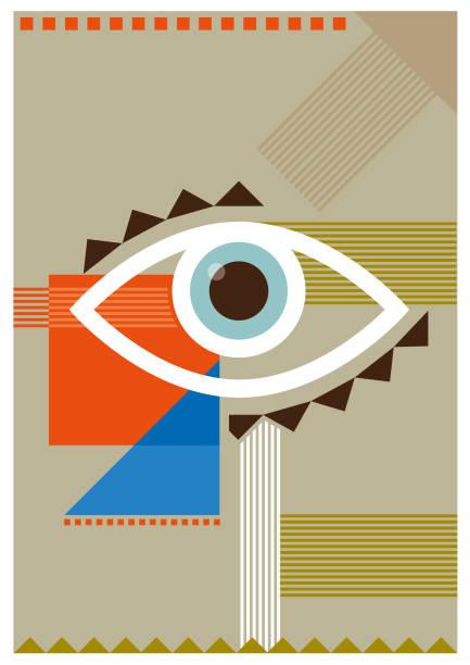 Bauhaus vector eye illustration vector art illustration