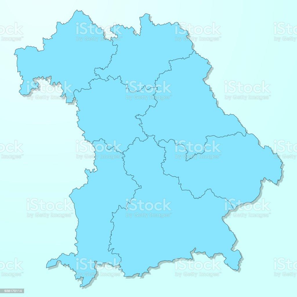 Bayern blau Karte auf degradierten Hintergrund Vektor – Vektorgrafik