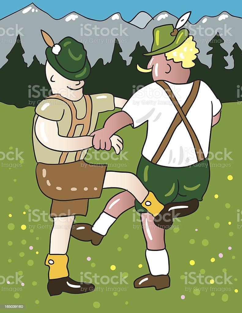 Bavarian dance royalty-free stock vector art