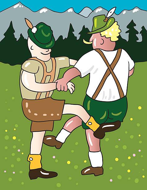 bayerische dance - schwarzwald stock-grafiken, -clipart, -cartoons und -symbole