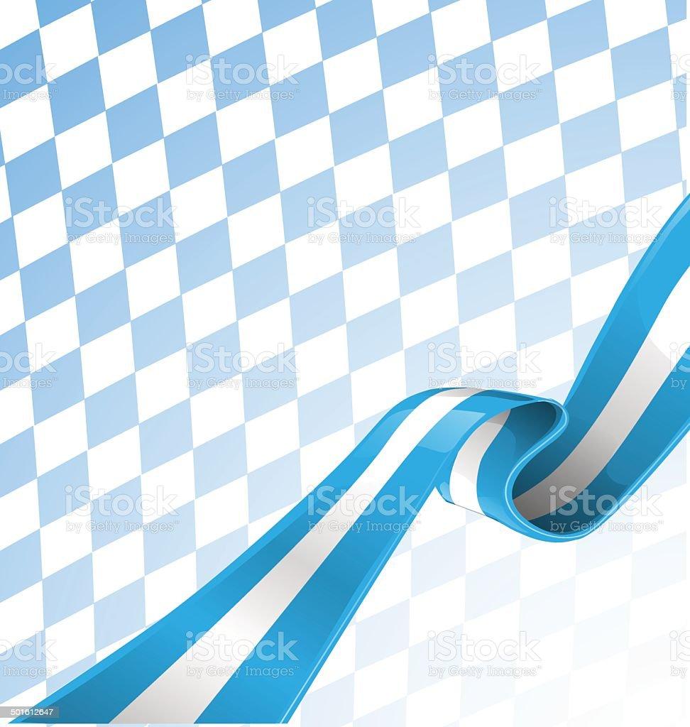 bavarian ribbon flag on background vector art illustration