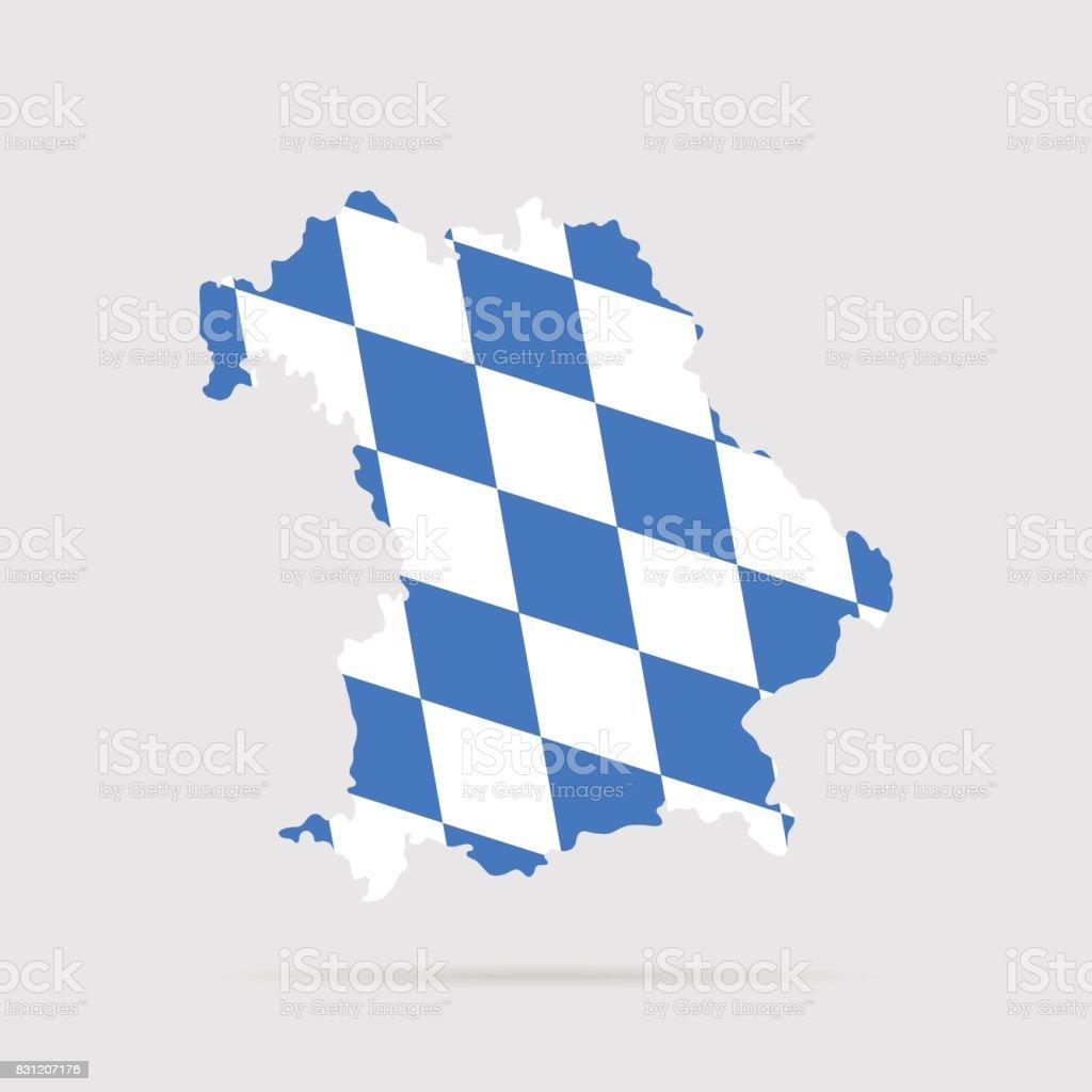 Bayern-Flagge – Vektorgrafik