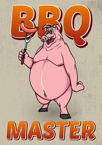 """Bbq master"" - poster."
