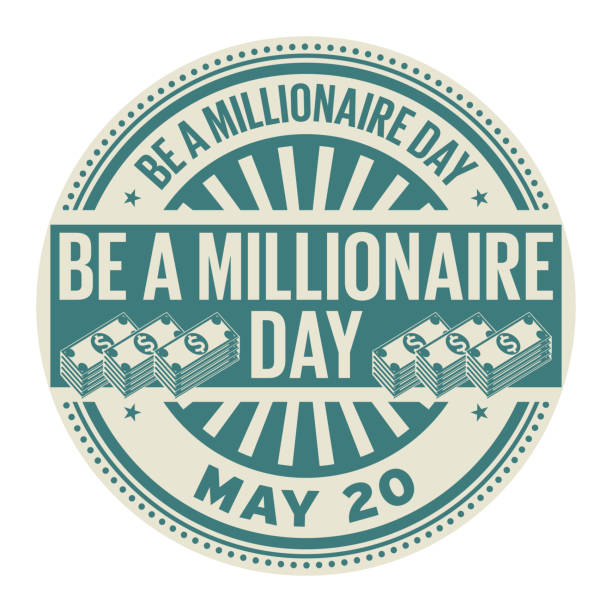 Be a Millionaire Day stamp Be a Millionaire Day, May 20, rubber stamp, vector Illustration millionnaire stock illustrations