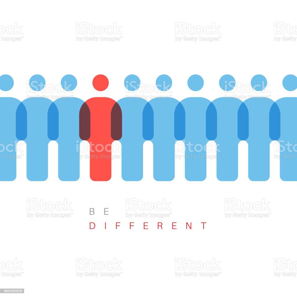 Be different concept illustration vector art illustration