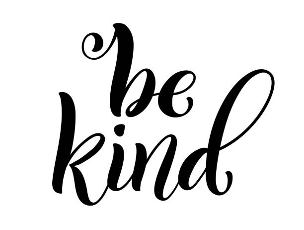 Be kind hand written lettering. Inspirational quote. Vector Be kind hand written lettering. Inspirational quote. Vector illustration affectionate stock illustrations