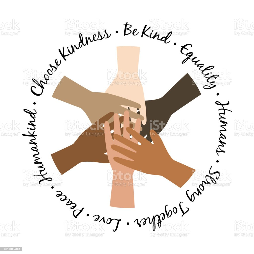Be Kind Unity Hands Symbol Protest Illustration With Hands Equality Symbol Stock Illustration Download Image Now Istock