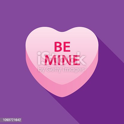 istock Be Mine Valentine Candy Heart Icon 1093721642