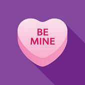istock Be Mine Valentine Candy Heart Icon 1093721642