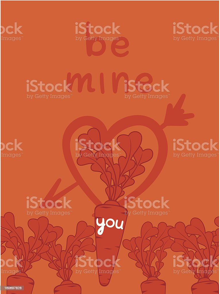 Be mine valentine with a carrots love royalty-free be mine valentine with a carrots love stock vector art & more images of arrow symbol