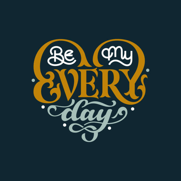 Be My Everyday vector art illustration