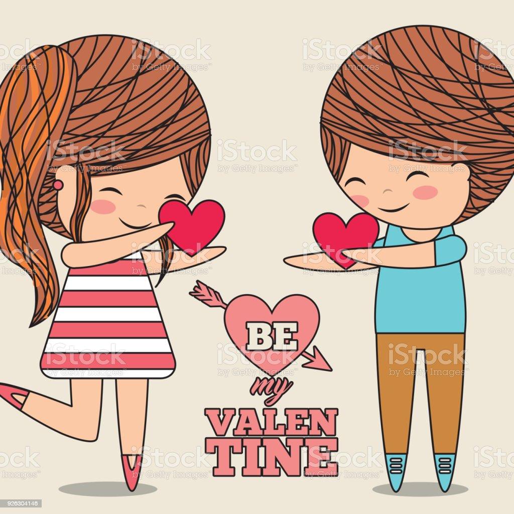 心を与える私のバレンタイン カップル愛の贈り物をします - i love youの