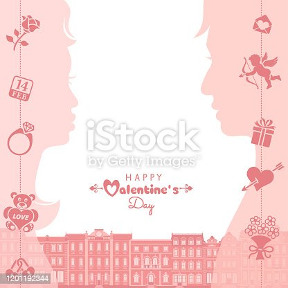 istock Be My Valentine. Couple in love hugging and kissing. 1201192344