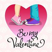 Be my valentine kiss