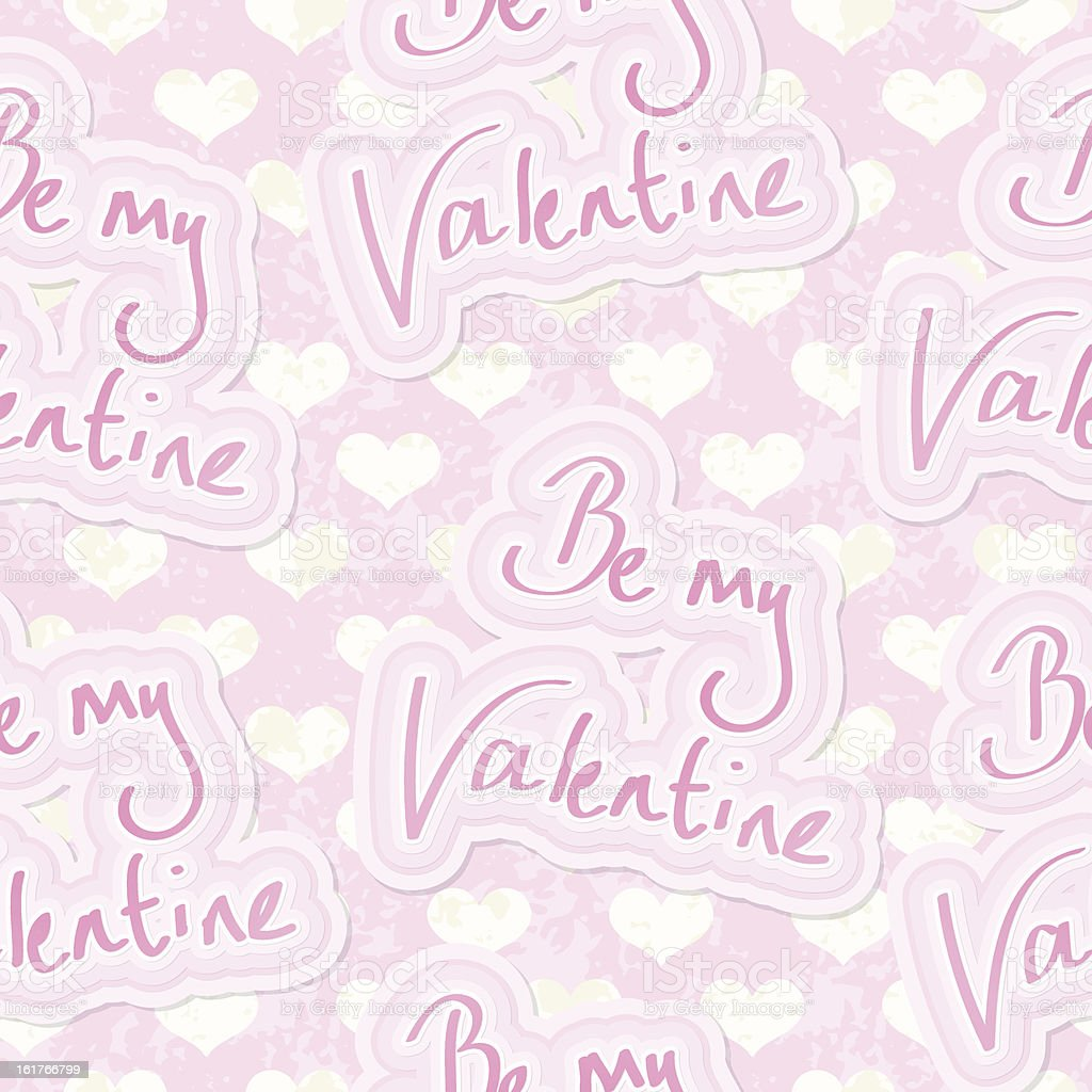 Be My Valentine Seamless Background royalty-free stock vector art