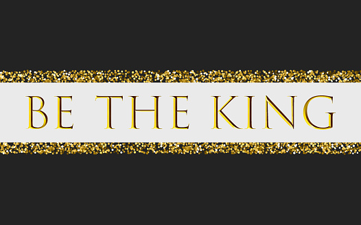 Be the king for t-shirt print design with beads