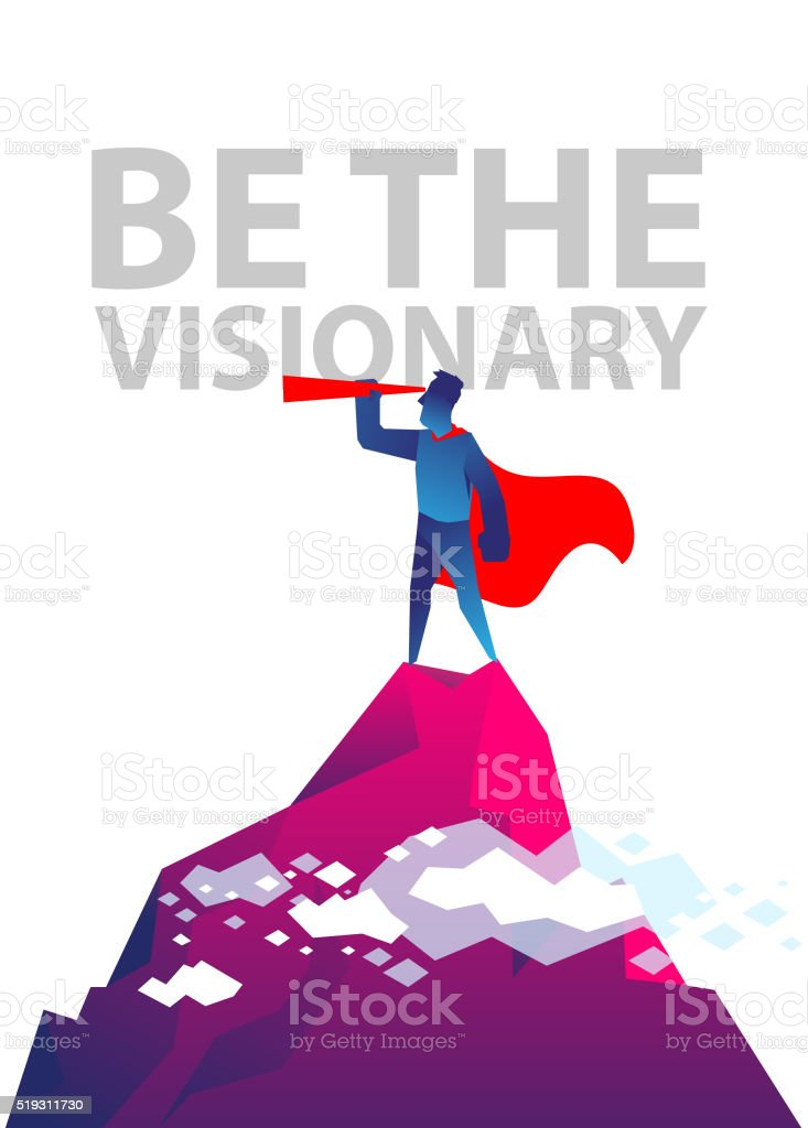 Be the visionary vector art illustration