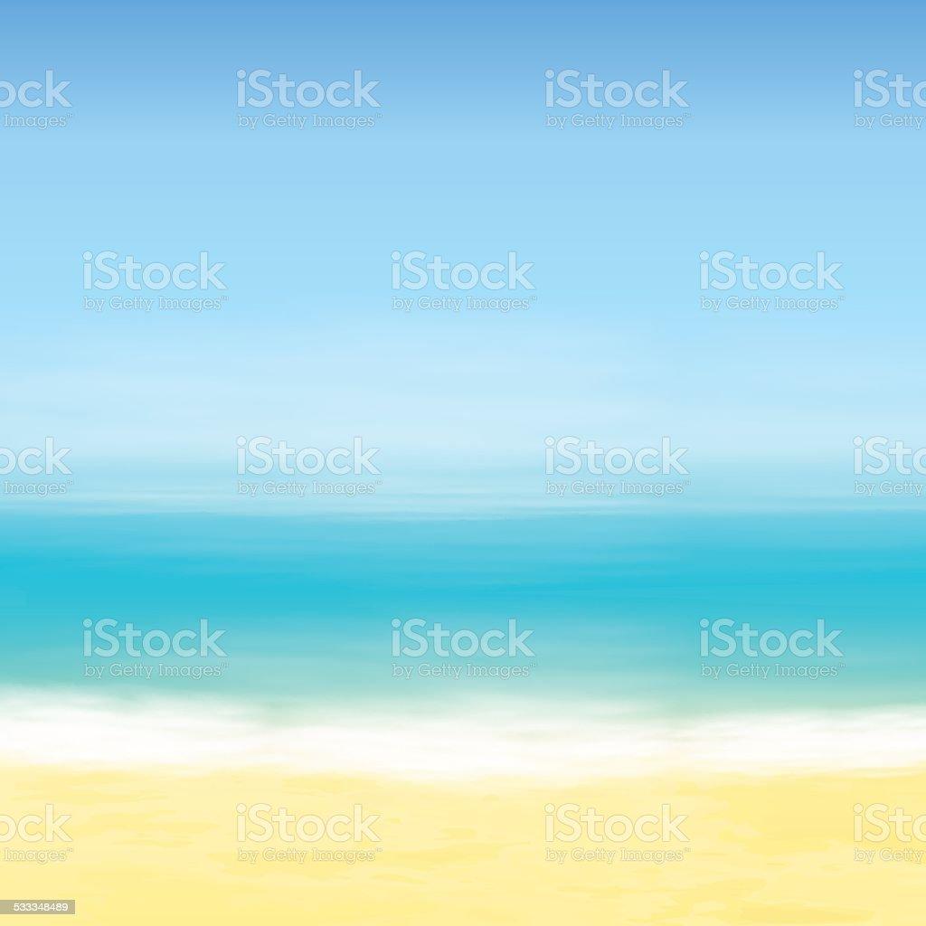 Spiaggia E Il Mare Azzurro Sfondo Tropicale Immagini Vettoriali