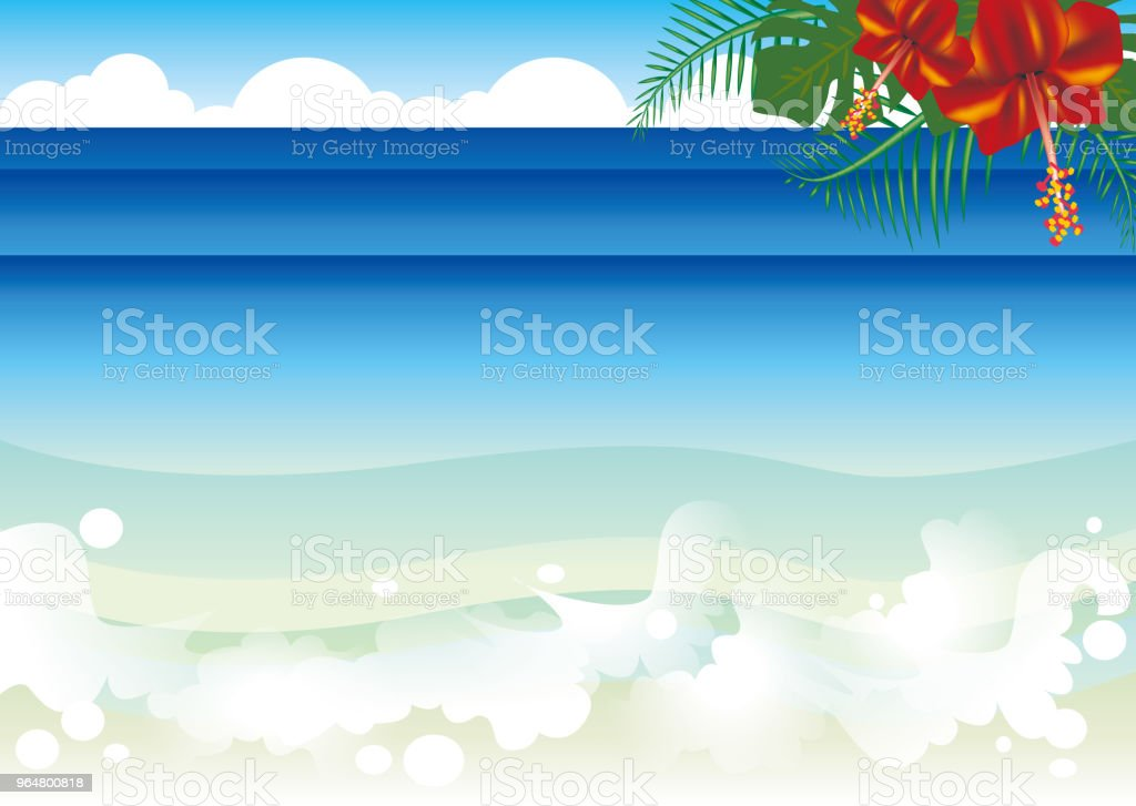 Beach and Hibiscus / Tropical Resort royalty-free beach and hibiscus tropical resort stock vector art & more images of beach
