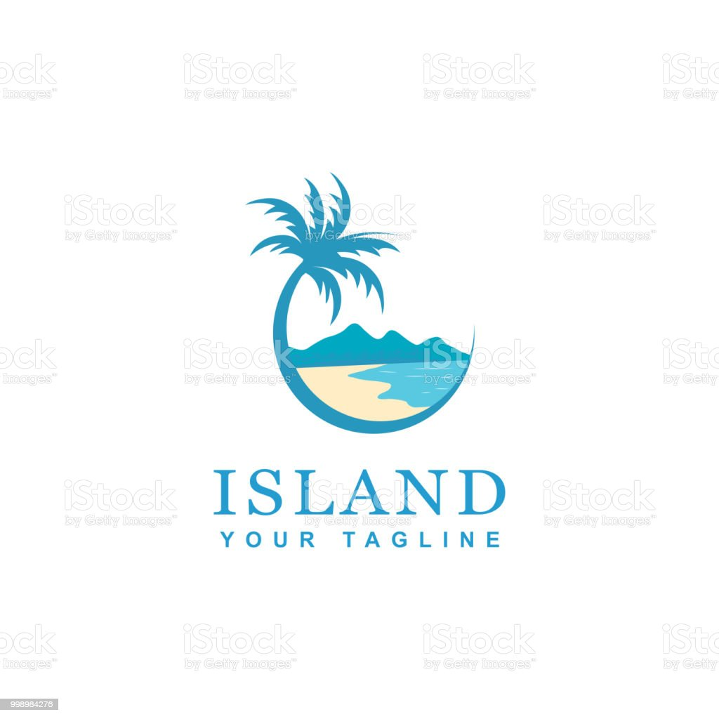 beach and island icon design royalty-free beach and island icon design stock illustration - download image now