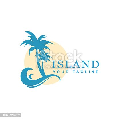 beach design and tropical island, vector icon