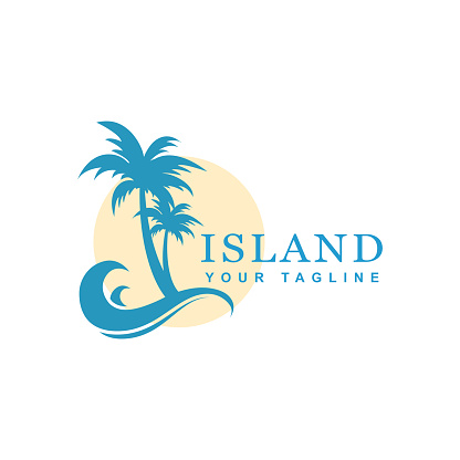 beach and island vector design