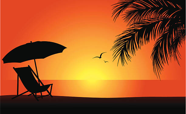 Royalty Free Beach Chair Clip Art Vector Images