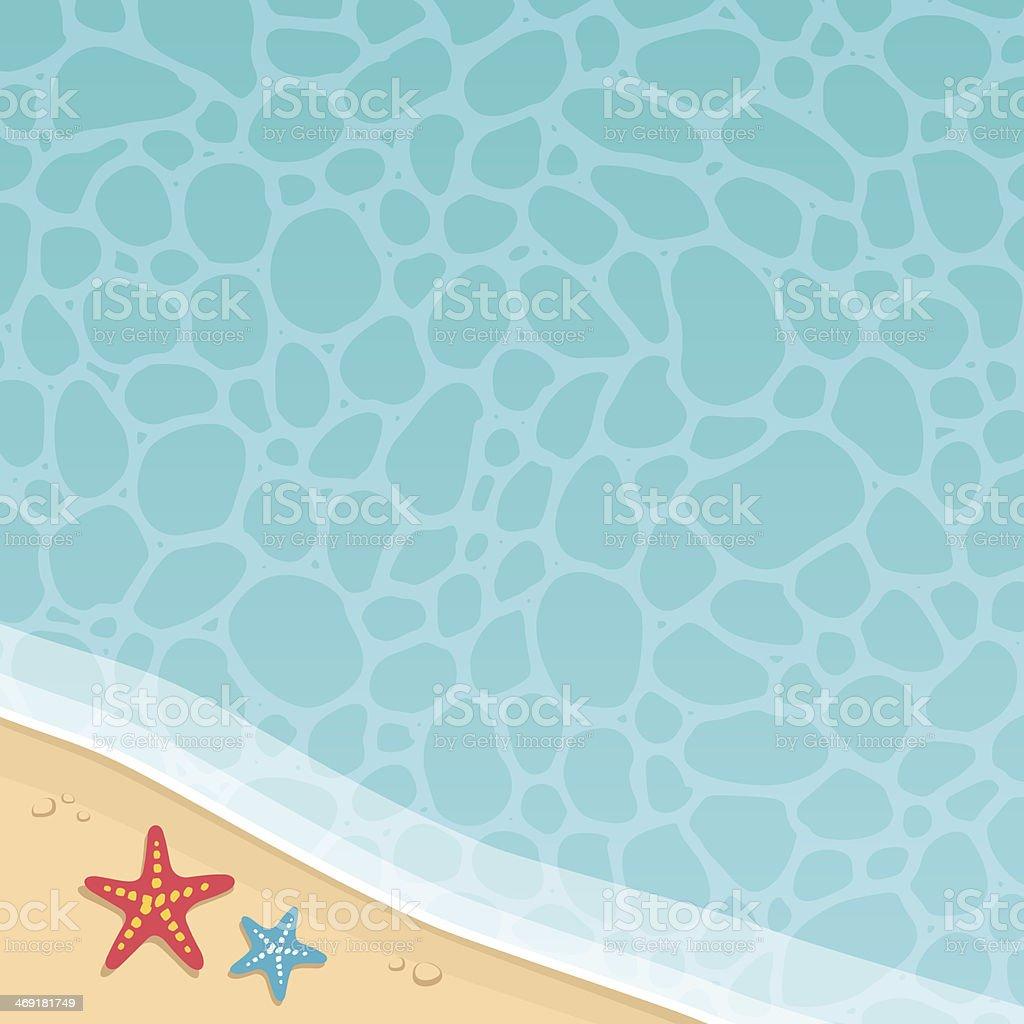 Beach Background vector art illustration