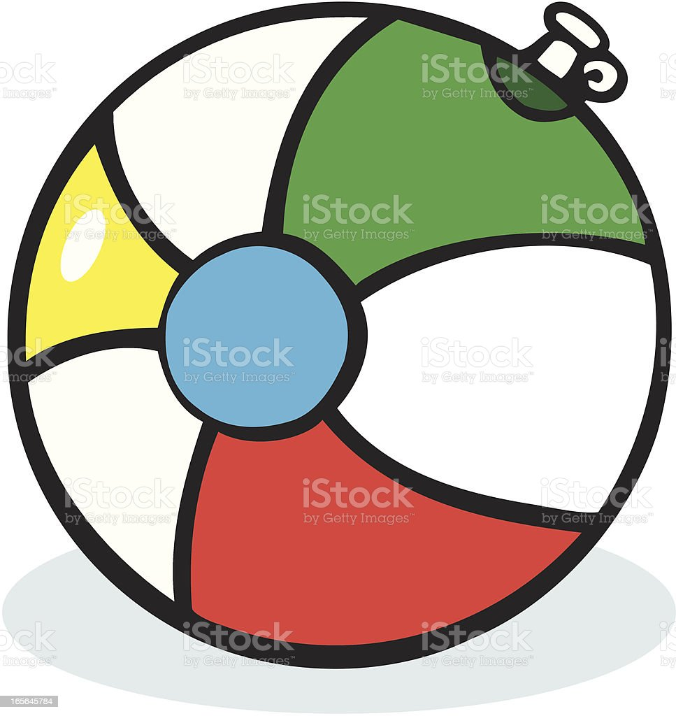 Beach Ball - Cartoon royalty-free stock vector art