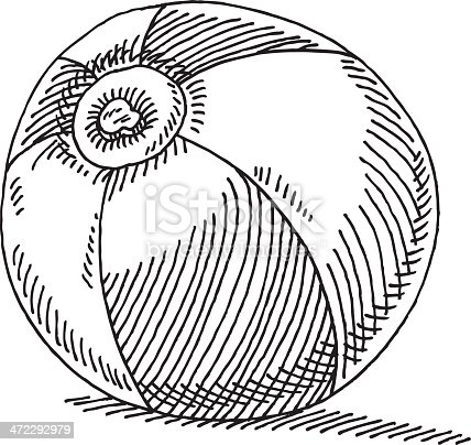 istock Beach Ball Drawing 472292979