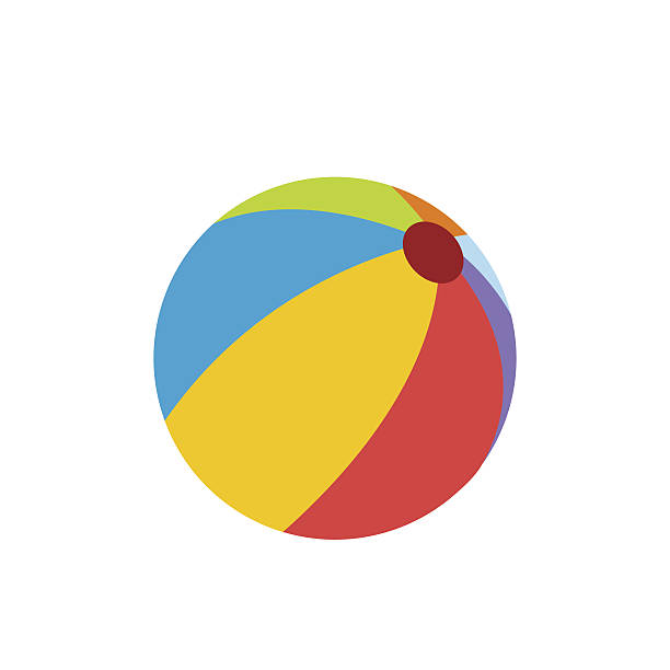 Beach ball flat icon – Vektorgrafik