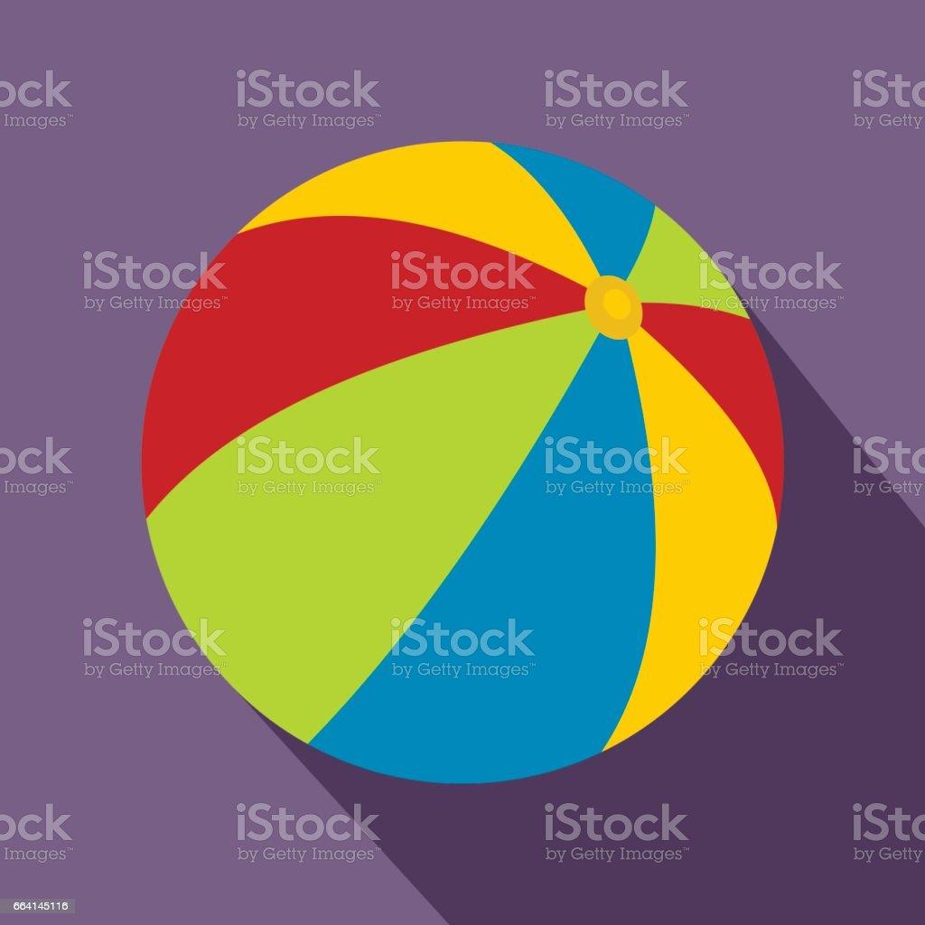 Beach ball icon, flat style beach ball icon flat style - immagini vettoriali stock e altre immagini di arte royalty-free