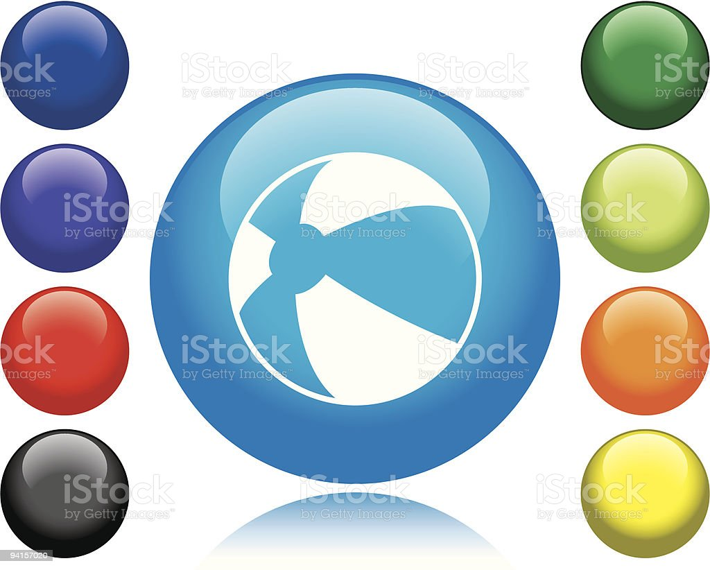 Beach Ball Icon royalty-free stock vector art