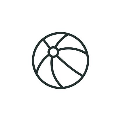 Beach Ball Line Icon