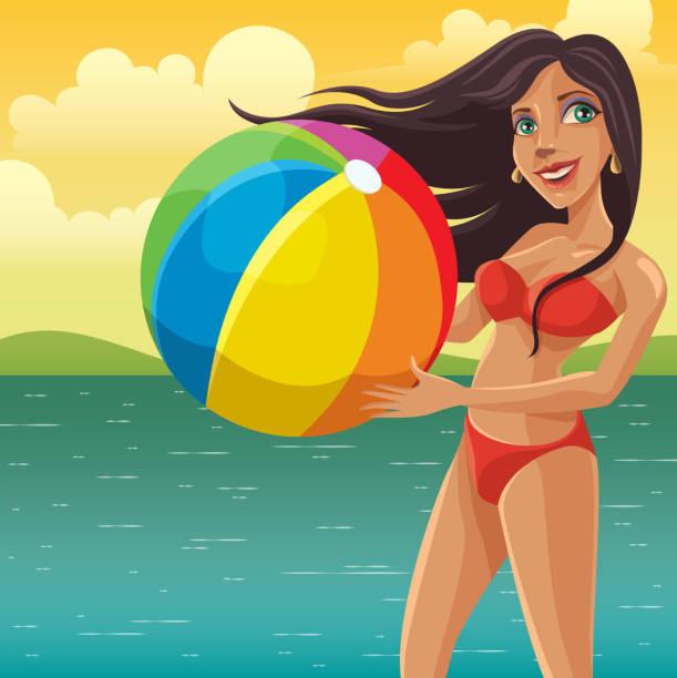 Beach Ball Luv'n vector art illustration