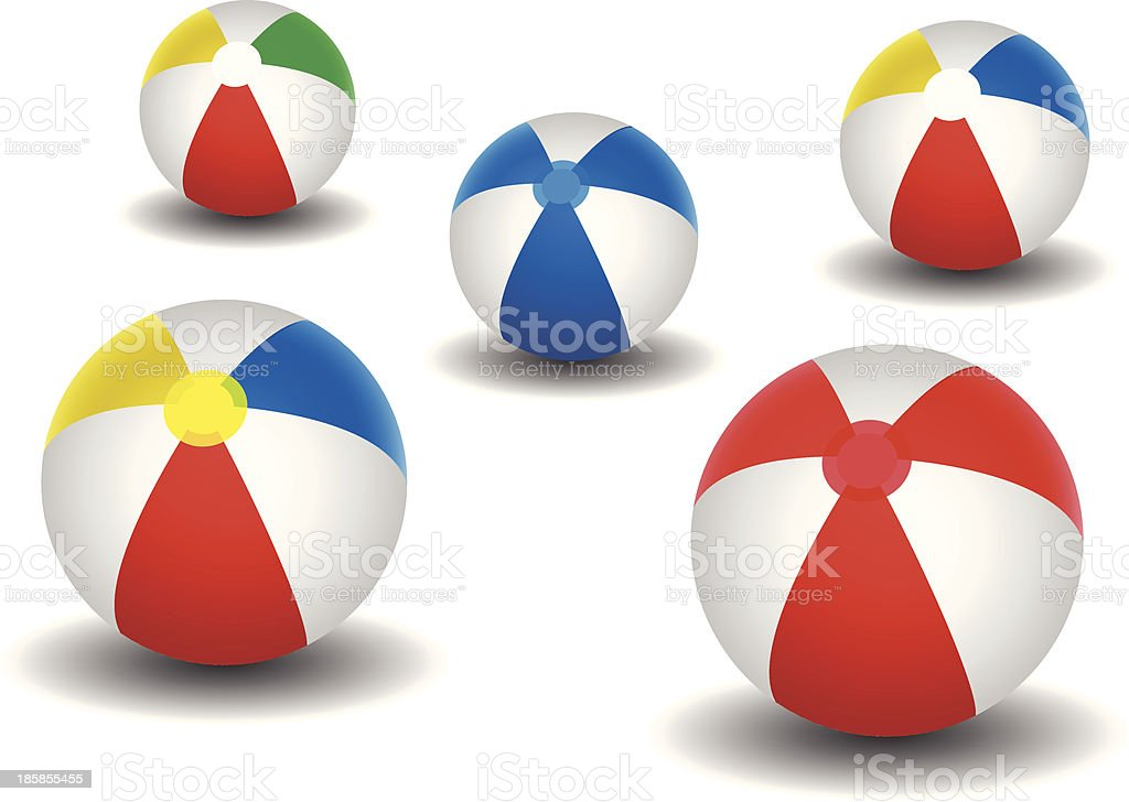 Beach ball set royalty-free stock vector art