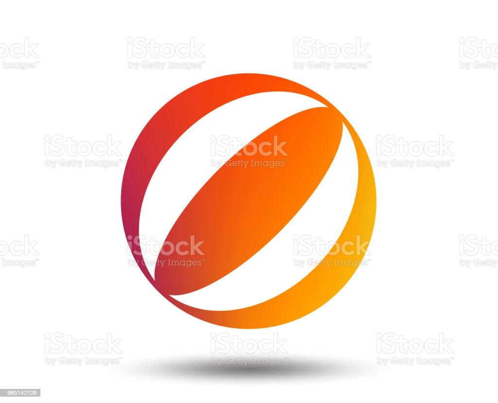 Beach ball sign icon. Water ball. beach ball sign icon water ball - stockowe grafiki wektorowe i więcej obrazów aplikacja mobilna royalty-free