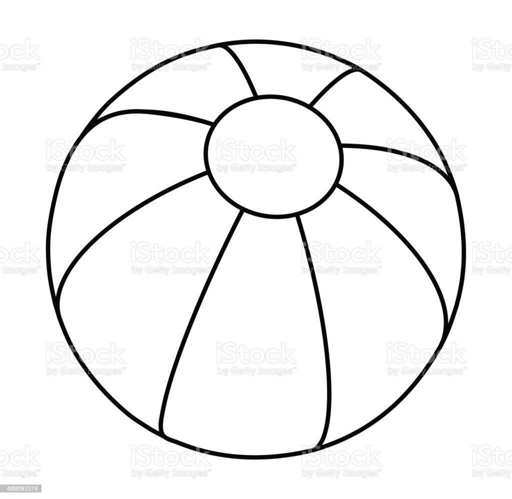 beach ball  silhouette vector symbol icon design. vector art illustration