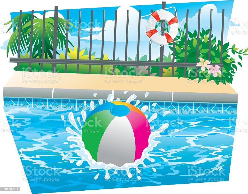 pool splash vector. Beach Ball Splash Royalty-free Stock Vector Art \u0026amp; More Images Pool