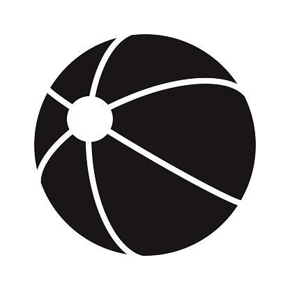 Beach Ball Travel Glyph Icon
