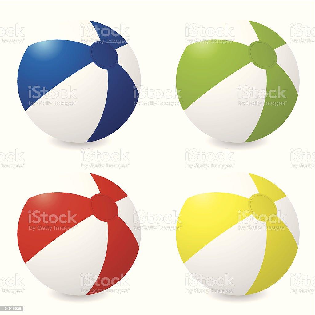 beach ball variation vector art illustration