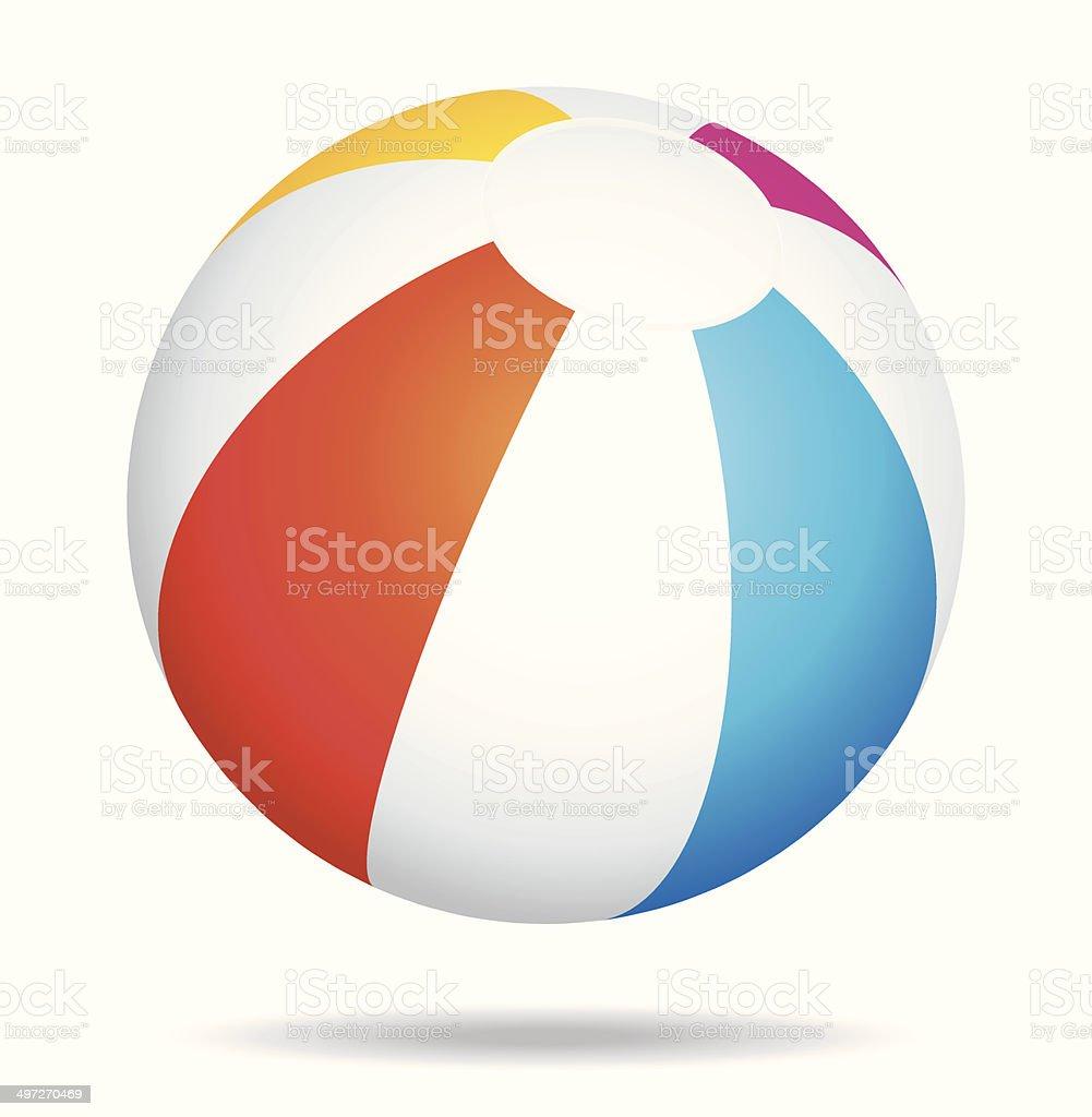 Beach ball vector art illustration