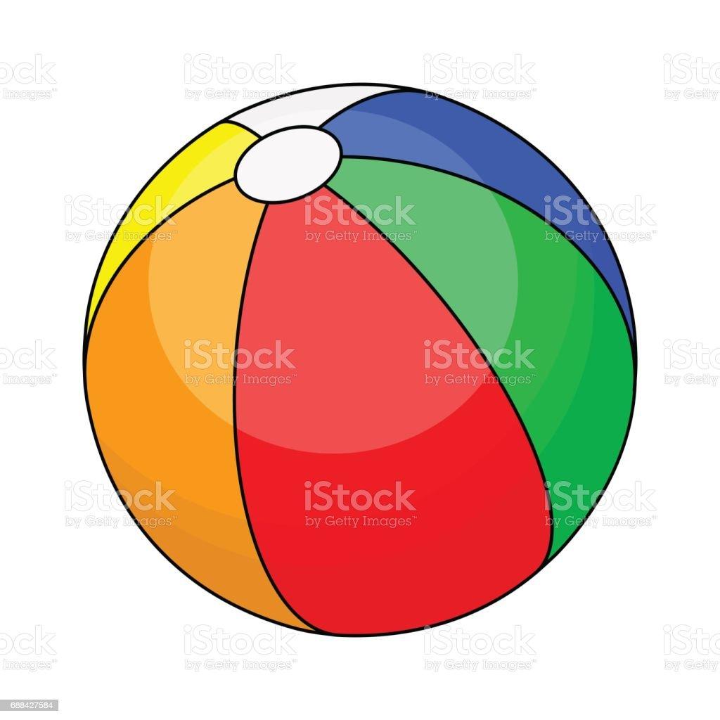 beach ball  vector symbol icon design. vector art illustration