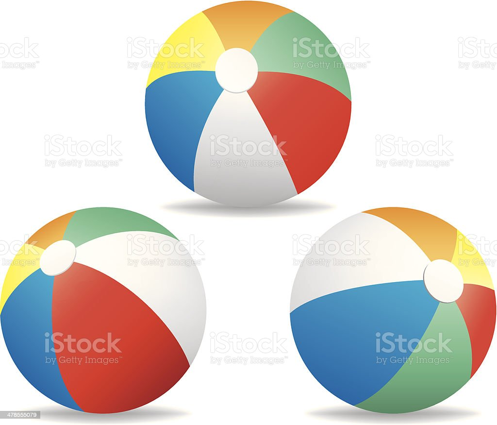 Beach Balls vector art illustration