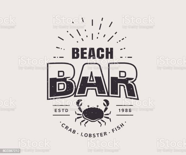 Beach bar badge isolated on white background vector template vector id802387212?b=1&k=6&m=802387212&s=612x612&h=ui kj iecxkecks svbiki0v td3wvuzzh q5gg mne=
