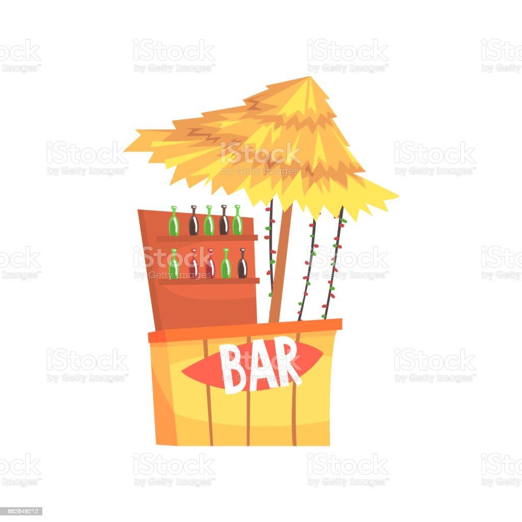 Bar De La Plage De Décrochage Comptoir En Plein Air Avec Un