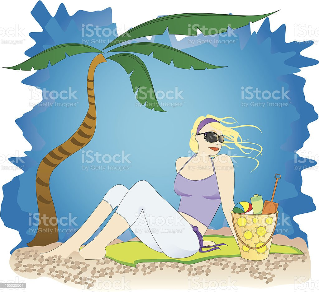 Beach Bathing Beauty royalty-free beach bathing beauty stock vector art & more images of adult