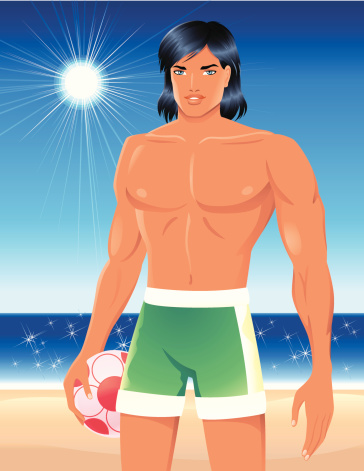 Beach Boy with Volleyball